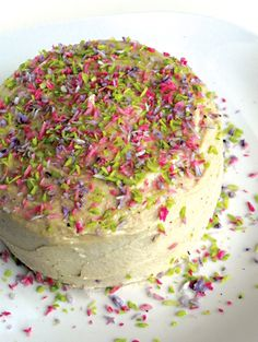 Confetti Birthday Cake from Practically Raw Desserts by Amber Shea Crawley