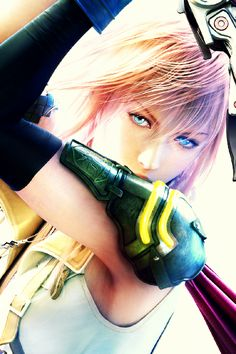 Final Fantasy XIII - Lightning My lover and cosplay costume:D Final Fantasy Girls, Lightning Final Fantasy, Final Fantasy Cosplay, Final Fantasy Artwork, Final Fantasy Characters, Video Game Characters, Fantasy Series, Fantasy World, Female Characters