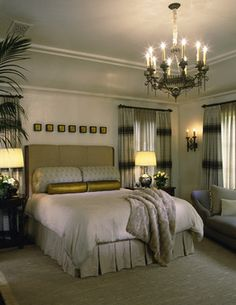 Mediterranean Classic - mediterranean - bedroom - los angeles - Tommy Chambers Interiors, Inc.