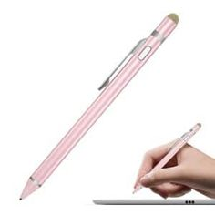 10x Crystal Pearl Stylus Retractable Capacitive Pen for iPhone iPod iPad Tablet
