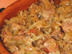 Polish Girls Can Cook: Bigos I love you - Hunters Stew Hunters Stew, Good Food, Yummy Food, Polish Recipes, Japchae, Soups And Stews, Slow Cooker, Nom Nom, Main Dishes