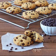 Paleo Chocolate Chip Cookies (gluten-free, grain-free & dairy-free) - Living Healthy With Chocolate