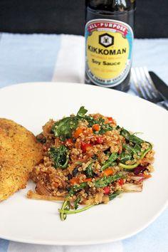 Mi Diario de Cocina | Vegetables and quinoa saute @kikkomankitchen #KikkomanSaborLBC #Ad | http://www.midiariodecocina.com/en/