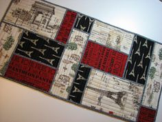Hey, I found this really awesome Etsy listing at https://www.etsy.com/listing/191170456/quilted-table-runner-paris-france-eiffel