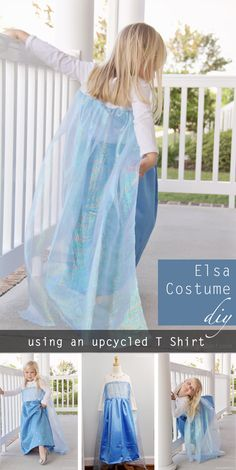 Elsa Costume DIY - perfect for Halloween or every day Dress up!