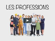 FLE, vocabulaire, les professions, les métiers, niveau débutant French Immersion, French Class, Learn French, Culture, Learning, Videos, Movie Posters, Socialism, Vocabulary