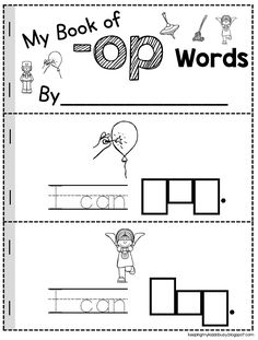 CVC Words — Keeping My Kiddo Busy - CVC BOOKS – fun and easy way to practice CVC words – kindergarten literacy center or worksheet - Kindergarten Freebies, Kindergarten Language Arts, Kindergarten Centers, Kindergarten Reading, Kindergarten Classroom, Classroom Decor, Sight Word Activities, Rhyming Activities, Work Activities
