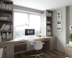 Leading 10 Stunning Home Office Layout Home Room Design, Home Office Design, Home Office Decor, Home Interior Design, House Design, Home Office Layouts, Home Office Space, Bedroom Layouts, Studio Room