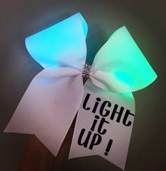 Light It Up! Light up Cheer Bow rainbow color changing lights