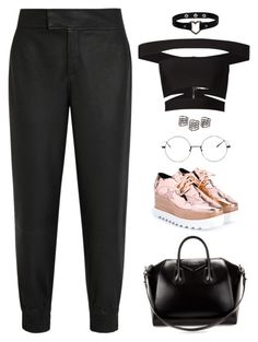 """""""Untitled #1485"""" by i-am-leia ❤ liked on Polyvore featuring STELLA McCARTNEY, Helmut Lang, Balmain, MANGO and Givenchy"""