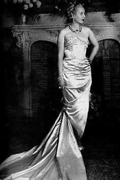Eva Peron in a Jacques Fath dress, Paris 1947. Photographed by Cecil Beaton.