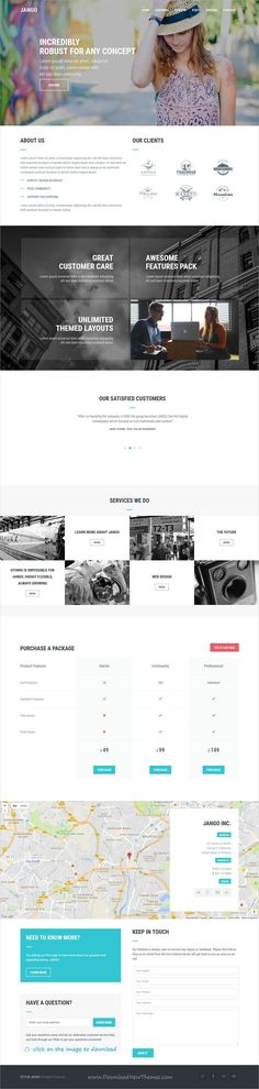 Jango is clean and modern design responsive #Joomla template for onepage creative #agency website made with highly flexible component based to download click on image.