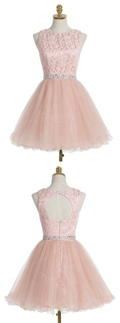 Charming Prom Dress,Elegant Homecoming Dress,Short Prom Gown,Pink Tulle