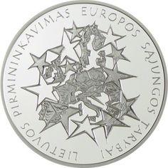 50 Litas Silber EU-Präsidentschaft PP