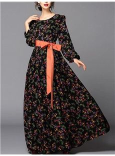 Doresuweデザイン クラシック上品花プリントマキシワンピース Plus Size Fashion, Designers, Dresses With Sleeves, Long Sleeve, Skirts, Clothes, Outfits, Clothing, Kleding