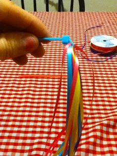 I can't find bike streamers I like... so I'm going to make my own using this really clever zip-tie idea!