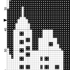 City Skyline Cross Stitch Pattern Stitch Patch, Stitch 2, Travel Around The World, Fun Projects, Blackwork, Pixel Art, Needlepoint, Cross Stitch Patterns, Needlework