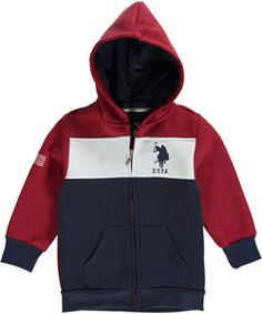 "U.S. Polo Assn. Little Boys' Toddler ""USA Tricolor"" Hoodie (Sizes 2T – 4T) $12.99"