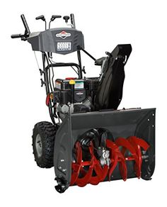 Snow Blowers - Briggs and Stratton 1696614 DualStage Snow Thrower with 208cc Engine and Electric Start ** Want to know more, click on the image.