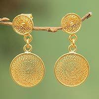 Filigree dangle earrings...