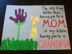 Handprint flower & footprint bunny card