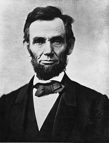 Abraham Lincoln 1809 Kentucky - 1865 Washington, 1861-1865 16. Präsident der USA, Sezessionskrieg und Abschaffung der Sklaverei