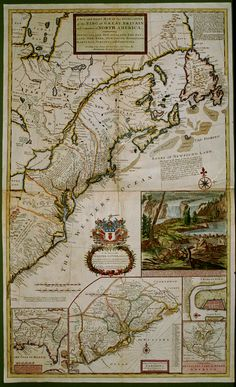 A New and Exact Map of the Dominions of the King of Great Britain on ye Continent of North America containing Newfoundland, New Scotland, New England, New York, New Jersey, Pensilvania, Maryland, Virginia and Carolina.