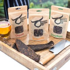 Welsh Wagyu Beef Biltong Set Of Three by BlightyBiltongCo, the perfect gift for Explore more unique gifts in our curated marketplace. Craft Ale, Healthy Protein Snacks, African Traditions, Wagyu Beef, Biltong, Ground Coriander, Chimichurri, Spice Blends, Charcuterie Board