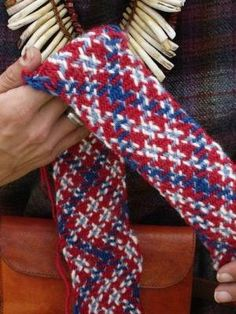Again: my loom was made for me by Reinier, a fellow member of Byfrost. In return I promised to make him a pair of leg windings. There is no evidence from the field of archaeology or other sources t…
