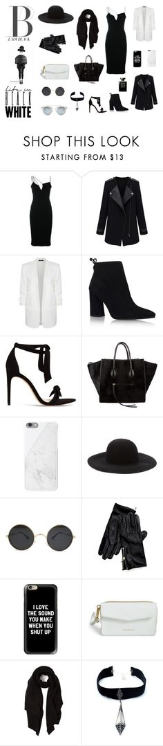 """another black serius"" by ivanavain on Polyvore featuring Victoria Beckham, Dex, Stuart Weitzman, Alexandre Birman, CÉLINE, Native Union, Forever 21, Tommy Hilfiger, Casetify and Vera Bradley"