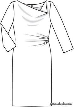 Шитье воротник платья