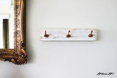 Copper Geese Wooden Hanging Jewellery Rack by ArieleArt on Etsy, $26.00