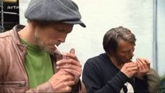 Mads looks so tiny. Synchronized smoking