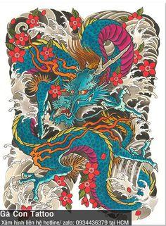 Japanese Leg Tattoo, Japanese Dragon Tattoos, Japanese Tattoo Designs, Japanese Sleeve Tattoos, Card Tattoo Designs, Dragon Tattoo Designs, Dragon Tattoo Full Back, Japan Tattoo Design, Dragon Sleeve Tattoos