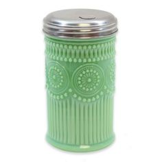 Tablecraft Jadeite Glass Sugar Cellar With Lid In Green - Tablecraft's Jadeite Glass Sugar Cellar offers a faithful reproduction of vintage milk glass kitchenware from the century. The charming embossed design is completed with a metal screw-on lid. Glass Kitchen, Green Kitchen, Kitchen Decor, Kitchen Layout, Kitchen Dining, Maple Kitchen, Shaker Kitchen, Kitchen Stuff, Kitchen Towels