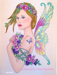From Messages From The Fairies - Doreen Virtue/Norma J Burnell. In Prismacolor Premier pencils.
