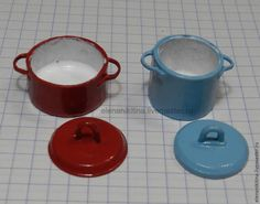 how to: miniature cooking pots