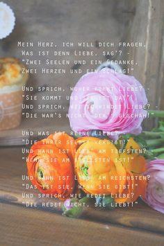 Frühling - Ranunkeln - Gedicht - Mein Herz - Liebesgedicht - Kochzeremoni