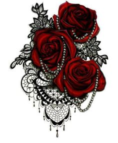 Red Roses Temporary tattoo