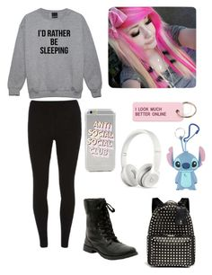 """""""Mondays"""" by emo-grell-and-sebby-chan ❤ liked on Polyvore featuring Dorothy Perkins, Various Projects, Beats by Dr. Dre and Valentino"""