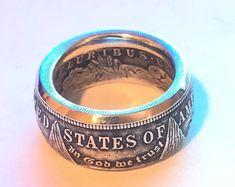 Handmade morgan silver dollar coin ring silver Men's ring anniversary gift Silver Dollar Coin, Morgan Silver Dollar, Mens Silver Rings, Silver Man, Mens Rings Etsy, Spoon Rings, Coin Ring, Skull Jewelry, Wedding Bands
