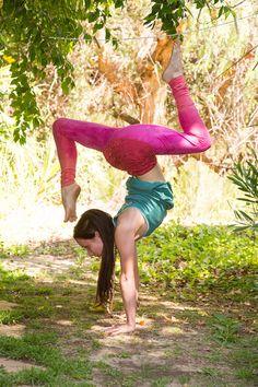 hollywood sunset lace waist yoga pants by purushapeople on Etsy, $110.00