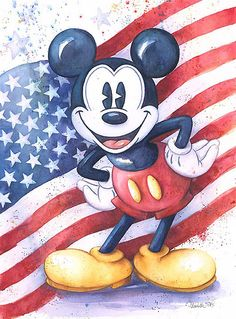 Mickey Mouse - American Mouse - Michelle St. Laurent - World-Wide-Art.com