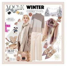 """""""Cozy Scarf for winter"""" by donnyprabowo ❤ liked on Polyvore featuring Valentino, Alice Hannah, The Row, French Connection, Jimmy Choo, KAROLINA, Hermès, GUESS, Cutler and Gross and Dorothy Perkins"""