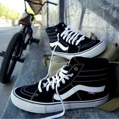 Go check   page for literally the best Sneakers & clothing 🔥😍   Sk8-hi Vans, Skate Vans, Sneakers Vans, Vans Sk8 Hi Pro, Vans Sk8 Hi Black, Mens Vans Shoes, Best Sneakers, Sneakers Fashion, High Top Sneakers