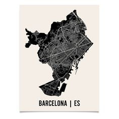 cool  Fab.com | Barcelona Map Print 24x18