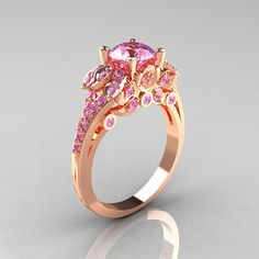 Classic 14K White Gold 1.0 CT Light Pink Sapphire by artmasters, $1299.00