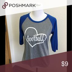 Football top Cute and comfy baseball tee perfect for casual days in any season Tops Tees - Long Sleeve