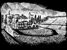 Lady Gaga's tour stage revealed! Last night Gaga gave her little monsters a sneak peek at what her Born This Way Ball stage is going to look like for her 2012 world tour. It's a black and white sketch of a huge castle-like building on the stage, with concert goers drawn in as well, surrounding it in the shape of a horseshoe. There's a front area enclosed by a walkway that will hold some of the audience members, which Gaga says is called the Monster's Pitt.