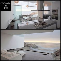 Casa VU is a 2012 project by TDC that is located in Lima, Peru. This sleek, modern home is perched on a cliff overlooking the sea which provides stunning, panoramic views. #rodeoand5th #luxury #homes #view #peru #lima #oceanview #design #decor